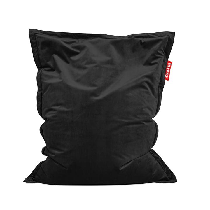 Sitzsack Original Slim Velvet von Fatboy in black (Sonderedition zum Black Friday)