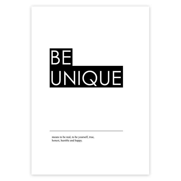 Be Unique Poster mit Schrift