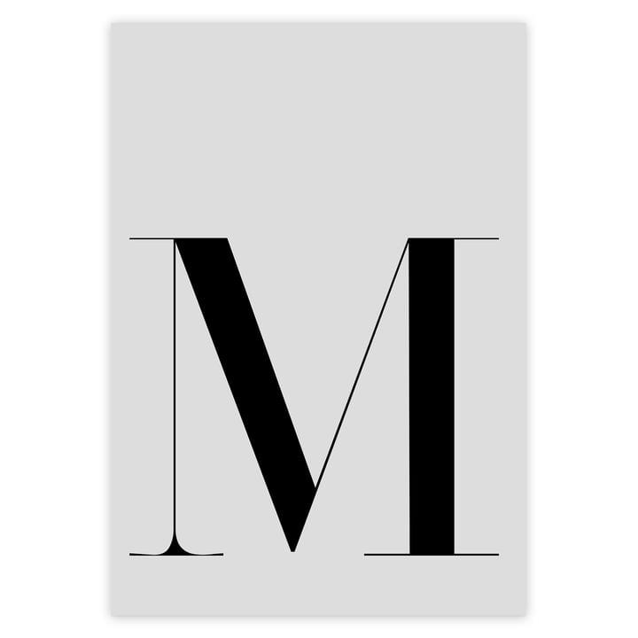 M Buchstaben Poster von artvoll