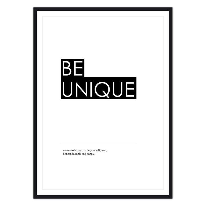 Typografie Poster mit Rahmen