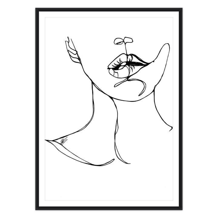 artvoll - Bite Poster mit Rahmen schwarz