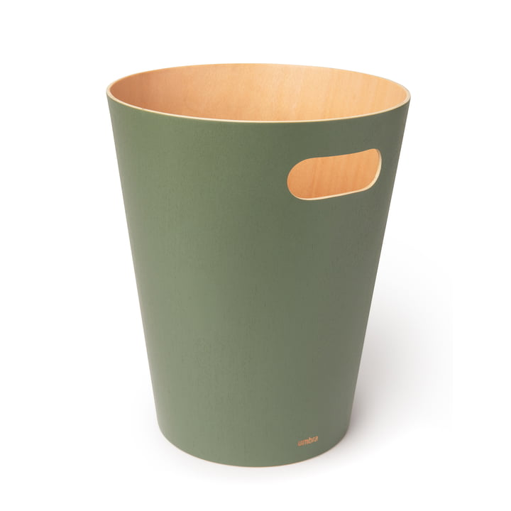 Woodrow Papierkorb von Umbra in spruce