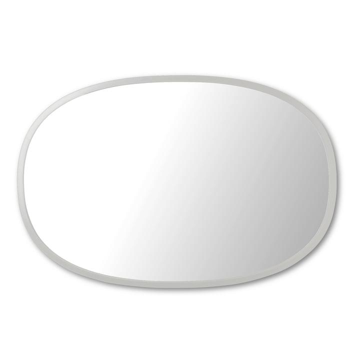 Hub Spiegel Oval 61 x 91 cm von Umbra in grau
