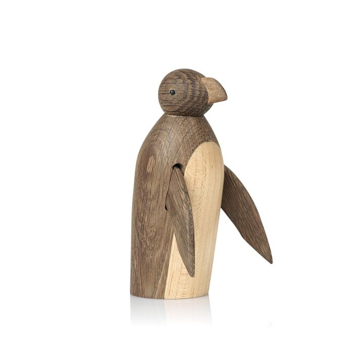 Skjøde Pinguin Holzfigur von Lucie Kaas in Eiche geräuchert / Ahorn