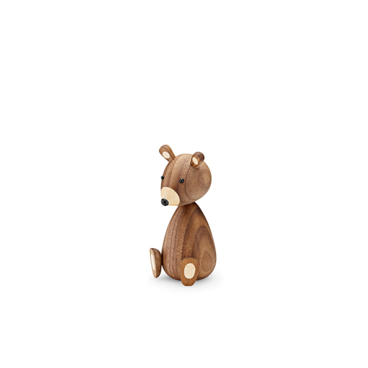 Baby Bär Holzfigur H 11 cm von Lucie Kaas in Walnuss