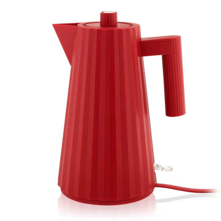 Plissé Wasserkocher 1,7 l von Alessi in rot