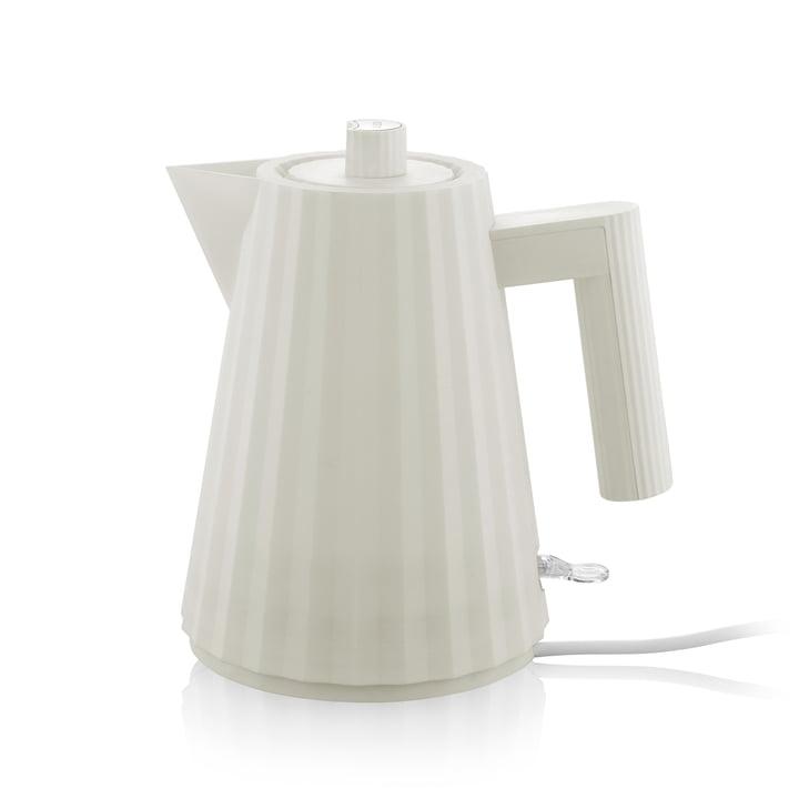 Plissé Wasserkocher 1 l von Alessi in weiß