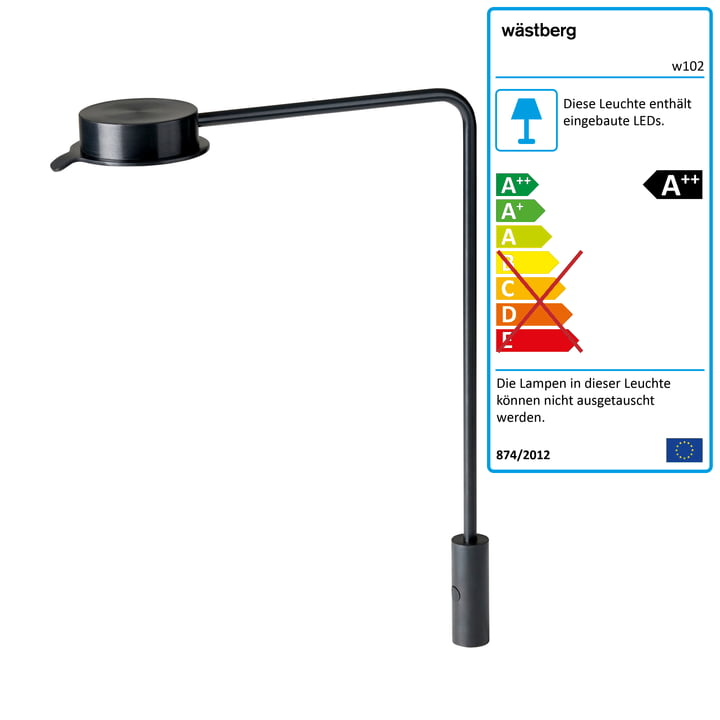 w102 Chipperfield LED Tischleuchte p von Wästberg in schwarz