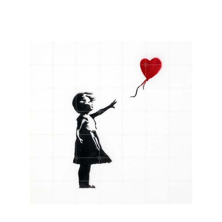 Girl with Balloon (Banksy) 140 x 140 cm von XXI