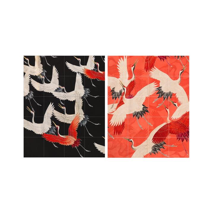 Kimono mit Kranichen, 80 x 100 cm von XXI