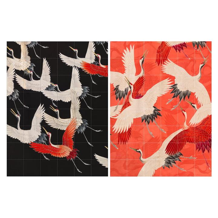 Kimono mit Kranichen 120 x 160 cm von IXXI