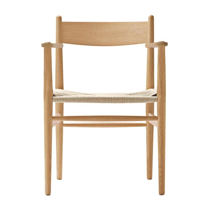 CH37 Stuhl von Carl Hansen in Eiche geölt / Naturgeflecht