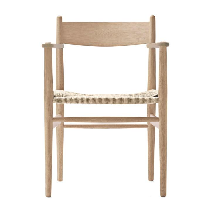 CH37 Stuhl von Carl Hansen in Eiche geseift / Naturgeflecht