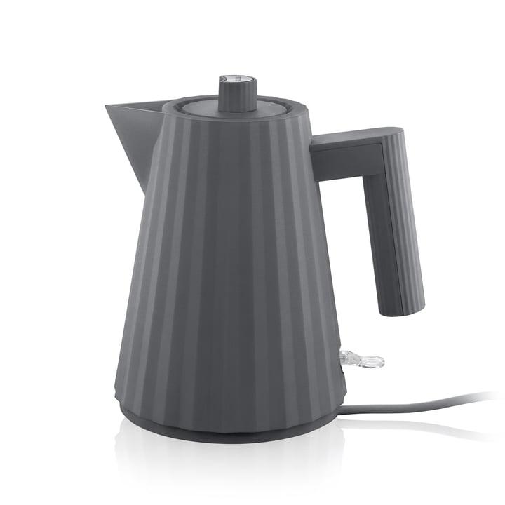 Plissé Wasserkocher 1 l von Alessi in grau