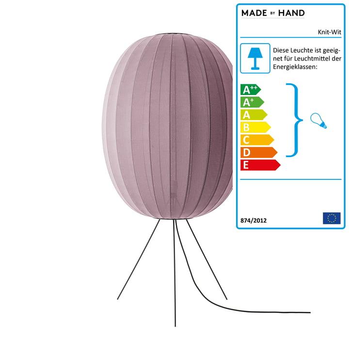 Knit-Wit Stehleuchte Medium 65 von Made by Hand in burgund