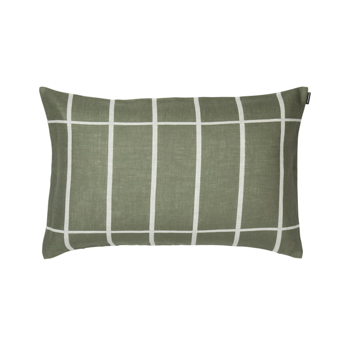 Tiiliskivi Kissenbezug 40 x 60 cm, graugrün / weiß von Marimekko