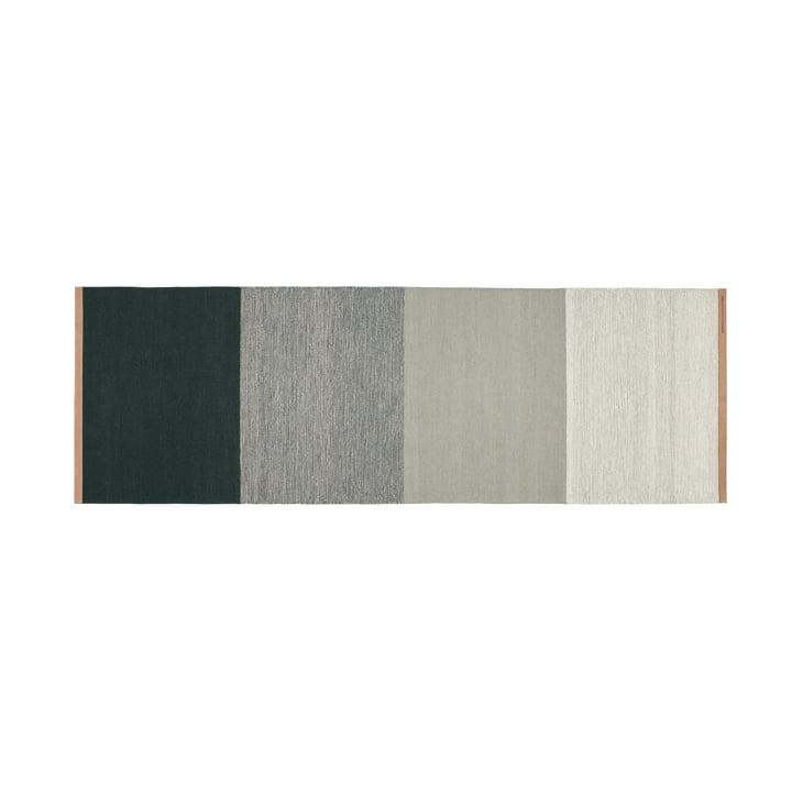 Fields Teppich 80 x 250 cm von Design House Stockholm in grün / grau