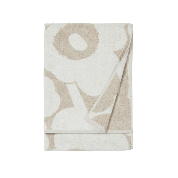 Unikko Badetuch 70 x 150 cm, beige / weiß von Marimekko