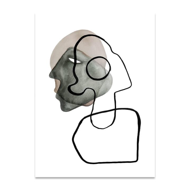 Comedia 50 x 70 cm von Paper Collective