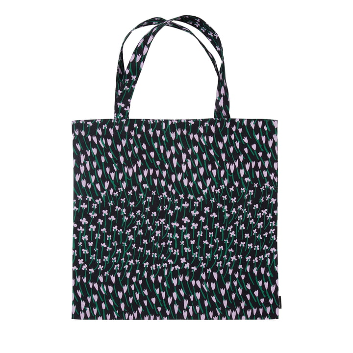Apilainen Einkaufstasche, dunkelblau / lila / grün von Marimekko