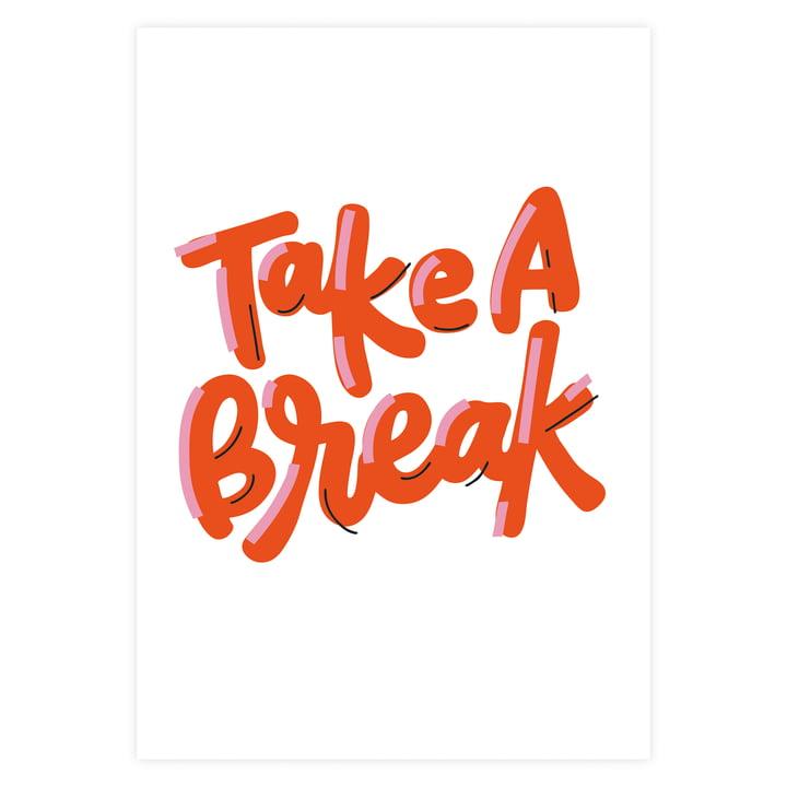 Take a break Poster in Rot