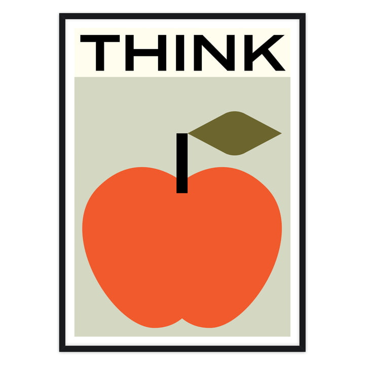 Apfel Poster mit schwarzem Rahmen