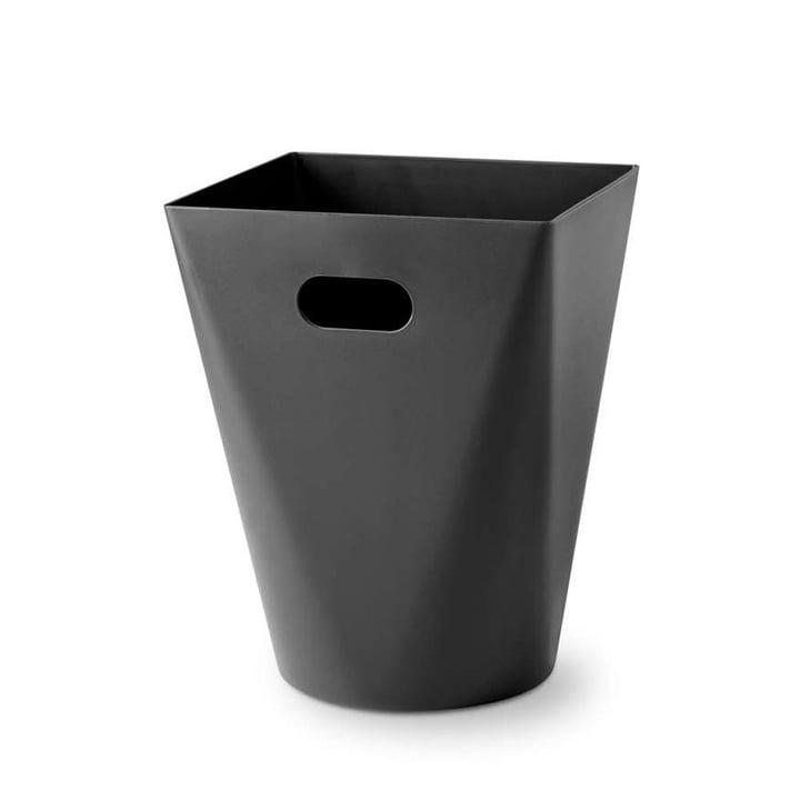 Square Midi Papierkorb von Depot4Design in schwarz