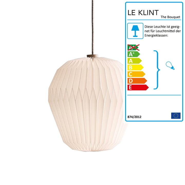 """Pendelleuchte """"The Bouquet"""" L von Le Klint in weiß"""