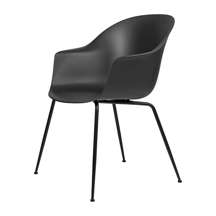 Bat Dining Stuhl von Gubi in Base schwarz / schwarz