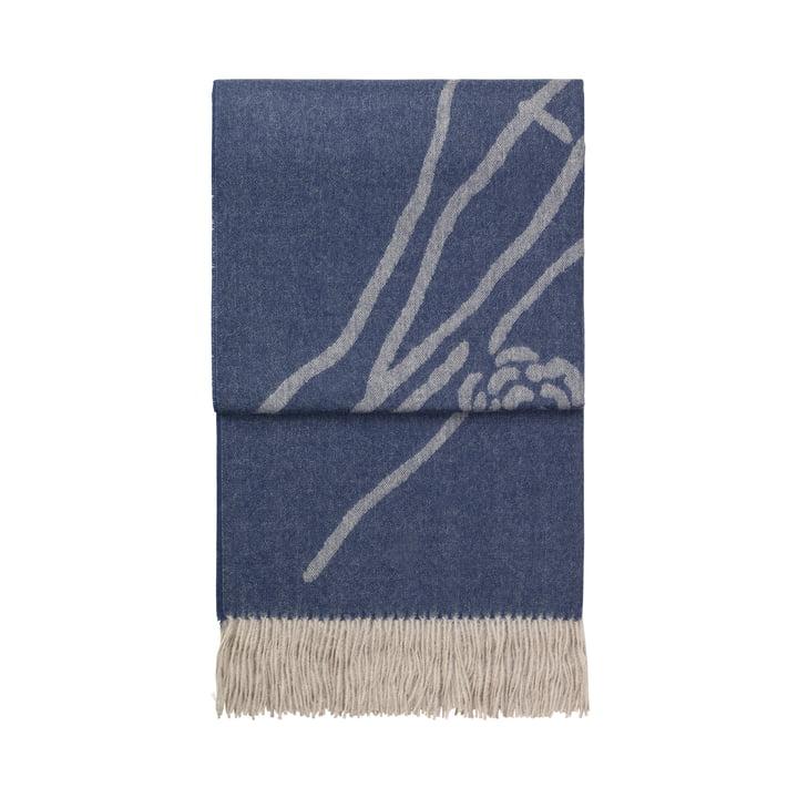 Wildflower Decke, blaugrau / beige von Elvang