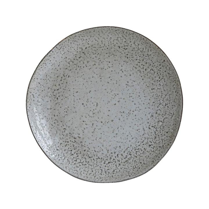 Tiefer Teller Rustic, Ø 25 x H 5 cm, graublau von House Doctor