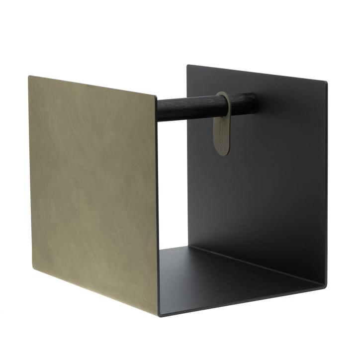 LindDNA - Container, Nupo Leder graugrün / Eiche schwarz