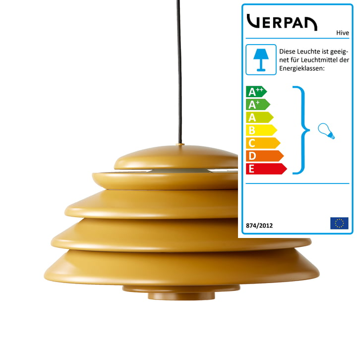 Hive Yellow Pendelleuchte Ø 48 cm von Verpan