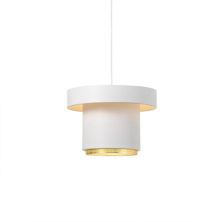 A201 Pendelleuchte von Artek in Messing / weiß