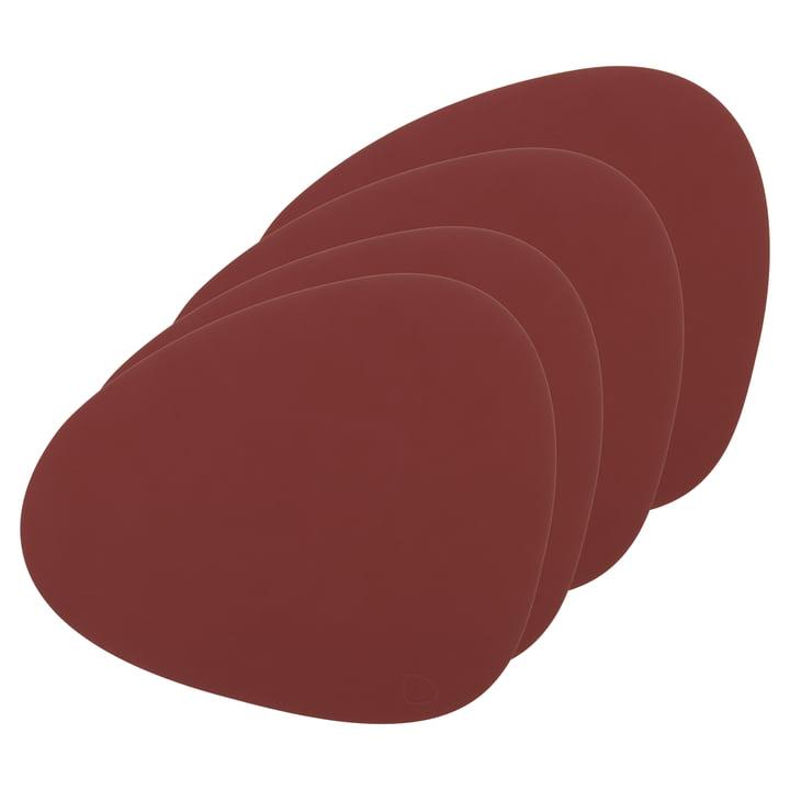 Tischset Curve L von LindDNA in Nupo rot (4er-Set)