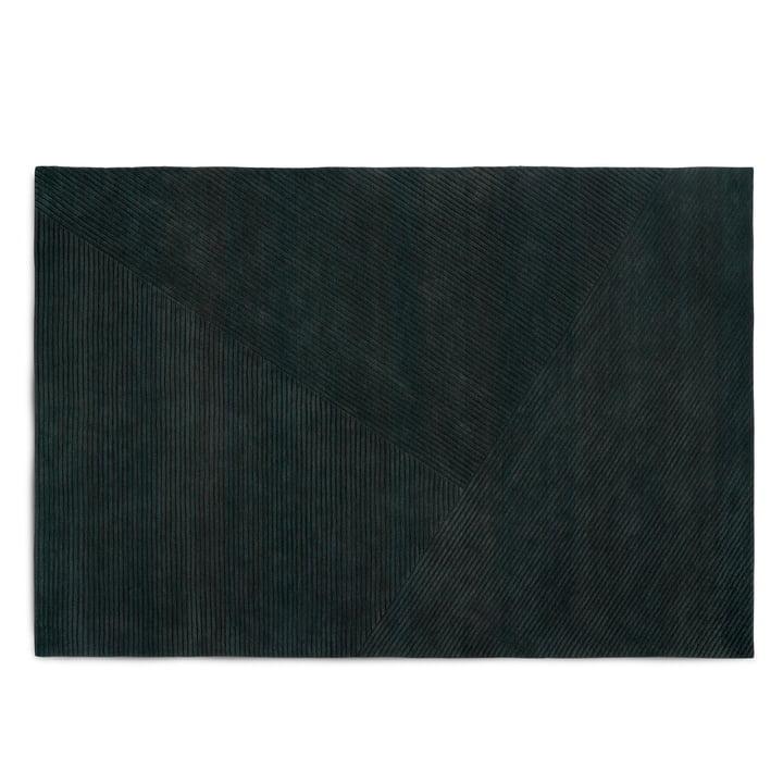 Row Teppich, large / dunkelgrün von Northern
