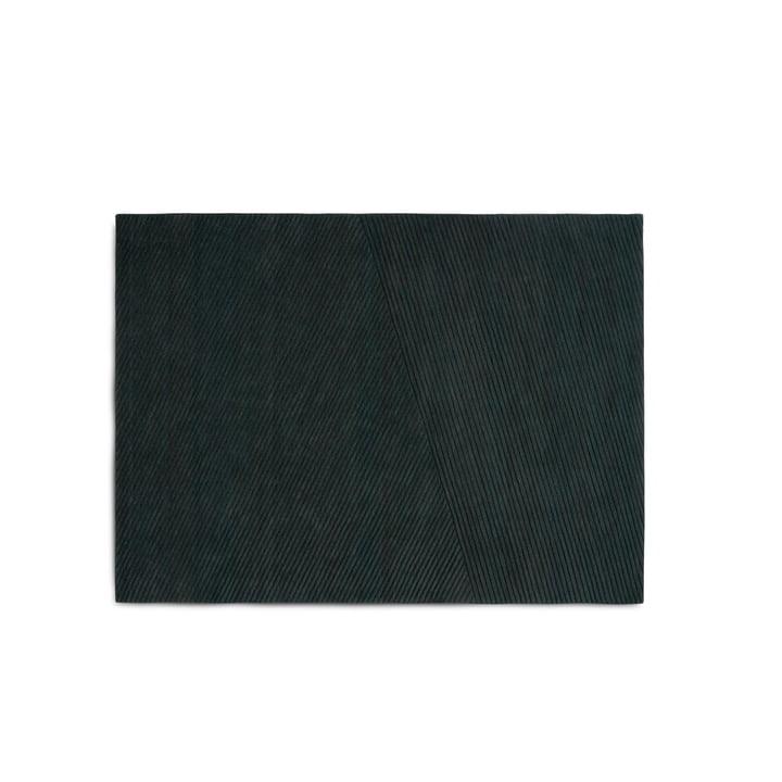 Row Teppich, medium / dunkelgrün von Northern