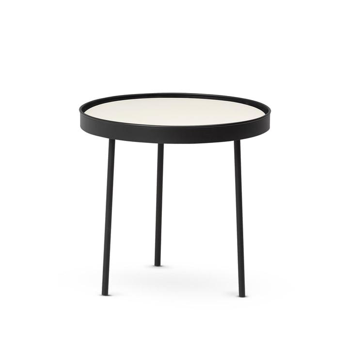 Stilk Coffee Table medium, Ø 45 x H 42 cm, schwarz / weiß von Northern