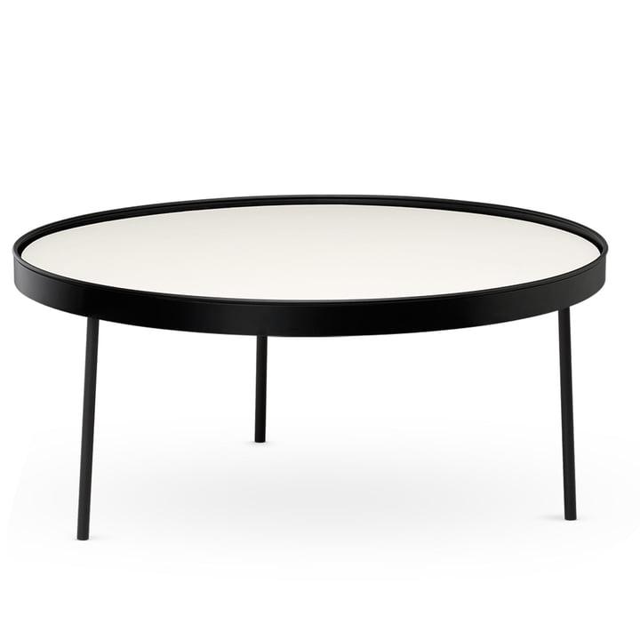 Stilk Coffee Table large, Ø 74 x H 34 cm, schwarz / weiß von Northern