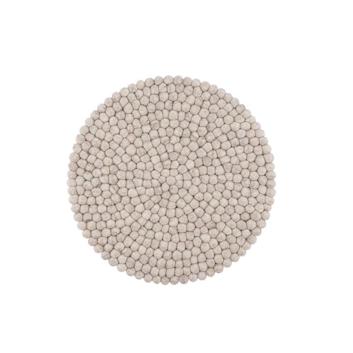 Béla Sitzauflage Ø 36 cm von myfelt in beige meliert