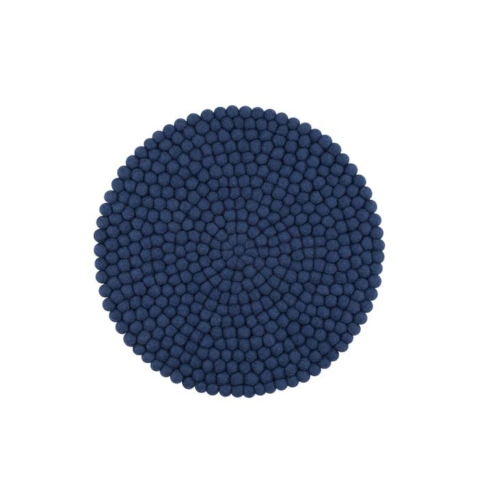 Alva Sitzauflage Ø 36 cm von myfelt in dunkelblau