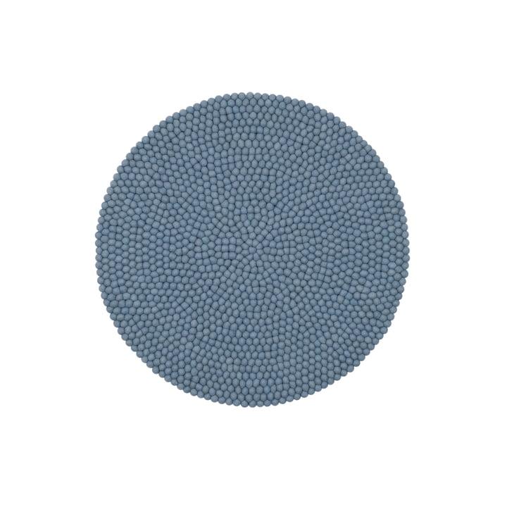 Mia Filzkugelteppich Ø 90 cm von myfelt in hellblau