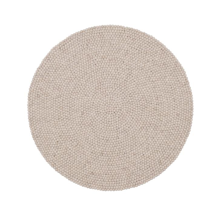 Béla Filzkugelteppich Ø 140 cm von myfelt in beige meliert