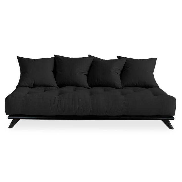 Senza Sofa von Karup Design in Kiefer schwarz / dunkelgrau