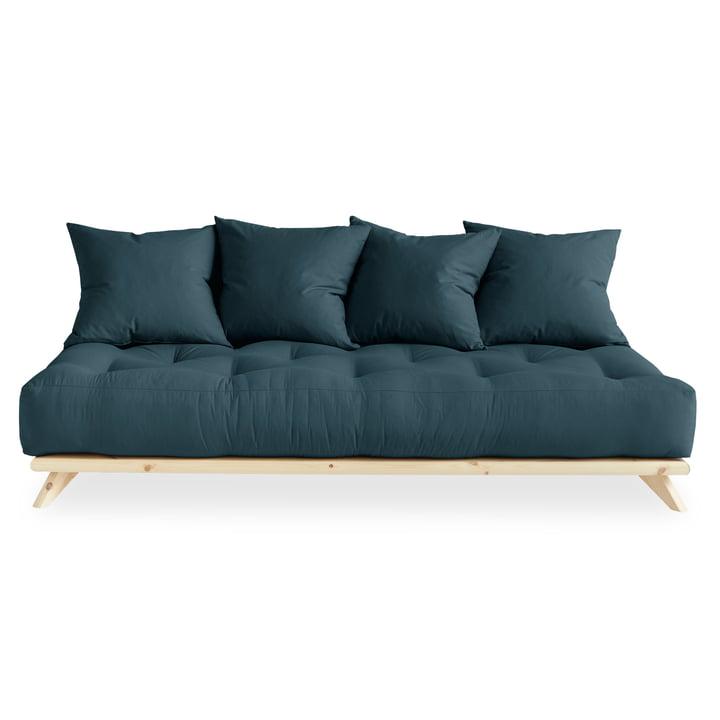 Senza Sofa von Karup Design in Kiefer natur / petrolblau