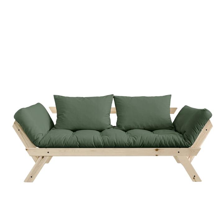 Bebop Sofa von Karup Design in Kiefer natur / olivgrün