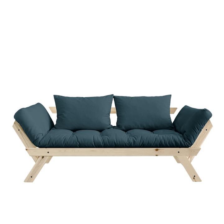 Bebop Sofa von Karup Design in Kiefer natur / petrolblau