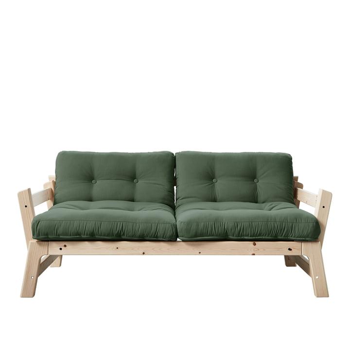Step Sofa von Karup Design in Kiefer natur / olivgrün