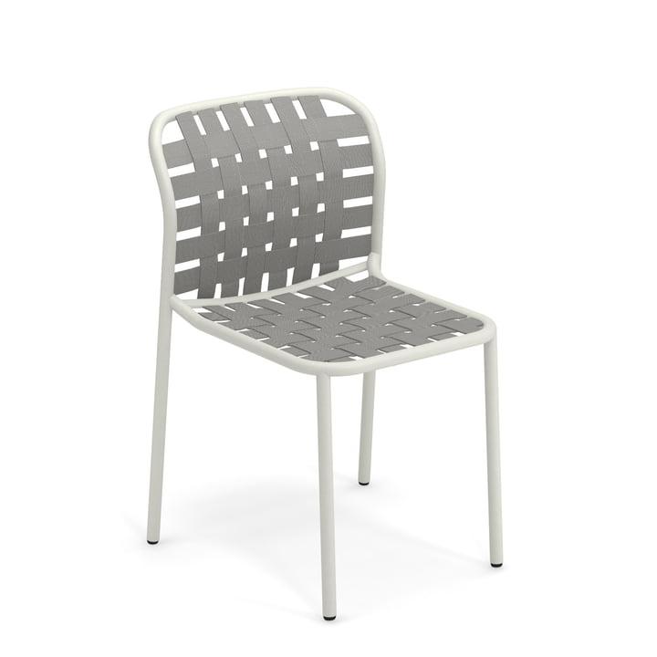 Yard Stuhl von Emu in weiß / grau-grün