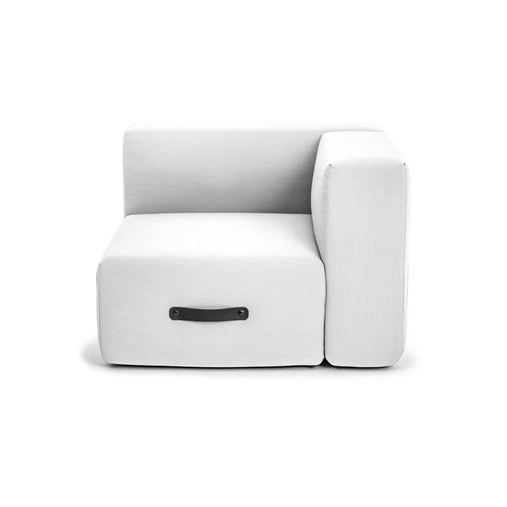 Miami Outdoor Sofa, Eckmodul links, hellgrau von Conmoto